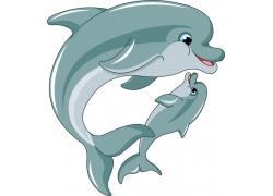卡通海豚插画图片