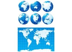 世界地图与地球图片
