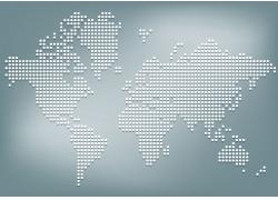 创意圆点世界地图图片