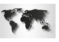 矢量黑色地图图片