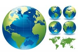 水晶地球与世界地图