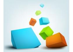 彩色立体方块背景