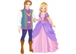 卡通王子与公主图片