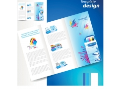 彩色折页设计图片
