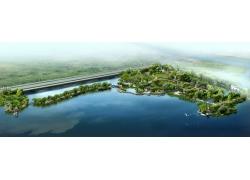 水边建筑效果图