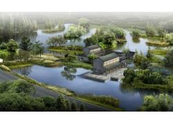 古代园林建筑效果图