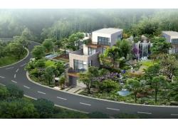 现代别墅建筑效果图