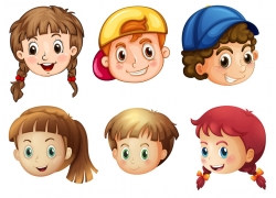 卡通儿童头像图片
