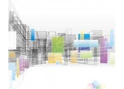 彩色科技方块背景