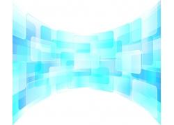 蓝色立体方块背景