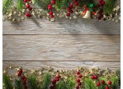 圣诞节木板背景边框