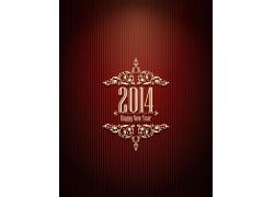 红色花纹2014模板设计