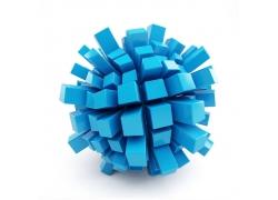立体长方形组成的圆球