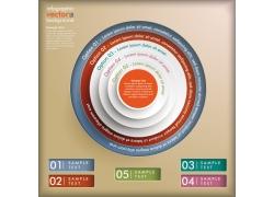彩色圆环立体信息图表