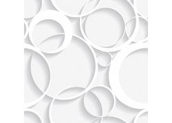 白色立体圆环背景