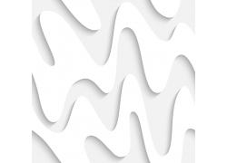 白色立体曲线背景