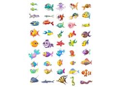 各种卡通海洋生物图片