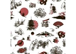 素描的日本元素绘画