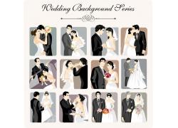 婚礼新人插画