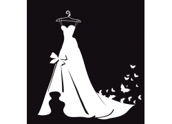 婚纱与蝴蝶