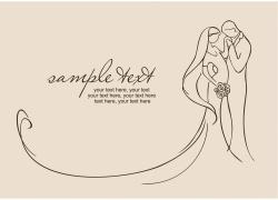 婚礼简笔画封面