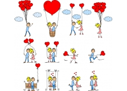 卡通情侣漫画图片