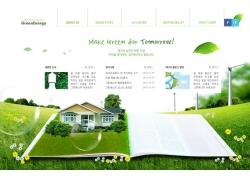 大画面绿色家园网页网站宣传