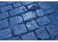 蓝色地砖背景