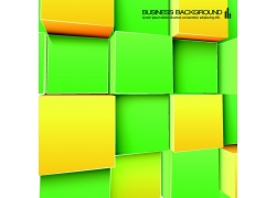 黄绿色立体方块背景