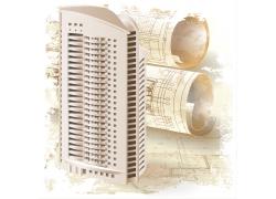 3D效果建筑楼体图背景