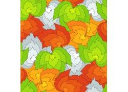 彩色植物背景