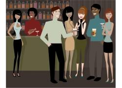 酒吧里的卡通人物图片