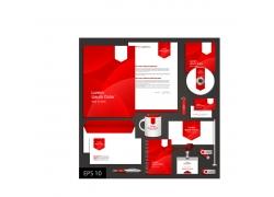 矢量红色VI设计