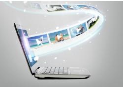 笔记本电脑与图片