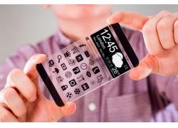 男人手中的手机