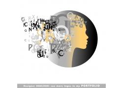 女性字母logo设计