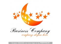 月亮星星logo设计