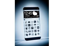透明的手机屏幕