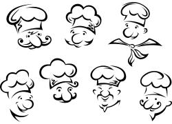 卡通厨师插画图片