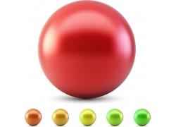 彩色圆球立体背景