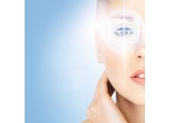 定位在女性眼部的科技光线