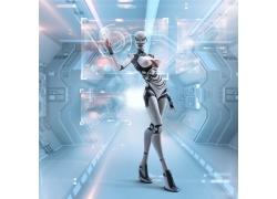 点击屏幕的机器人