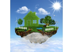 绿色环保节能背景