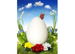春季花篮里的蛋