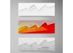 折线点式横幅设计