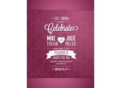 粉色花纹背景结婚纪念日