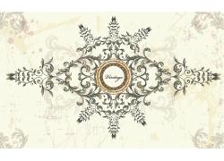 欧式古典花卉图案背景