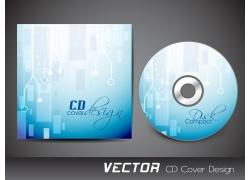 蓝色清新CD封面设计