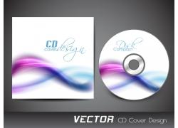 清新流线CD封面设计