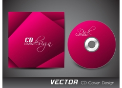 炫彩红色时尚CD封面设计